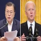 한국,미국,백신,협력,정상회담,북한,이번,확대,바이든,비핵화