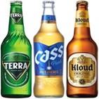 맥주,초록병,테라,컬러,시장,마케팅,갈색병,투명병,이미지,업계
