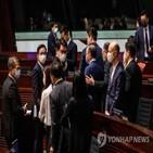 홍콩,중국,미국,내정,입법회,비난,선거제