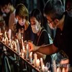 홍콩,집회,행사,톈안먼,추모,불허,해당