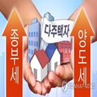 다주택자,집값,양도세,종부세,정부,세금,다주택,주택,인상,부동산