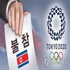 올림픽,북한,선수,도쿄,결정