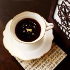음료,금박,제품,커피