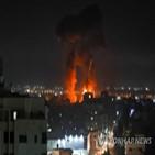 이스라엘,가자지구,방화