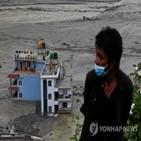 네팔,지역,현지,부탄,홍수