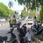 시민방위군,미얀마,군경,매체,총격전,현지,만달레이,트럭