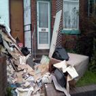 쓰레기,이웃집,현관문