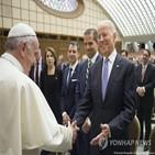 대통령,바이든,교황,백악관,신자,가톨릭,참석