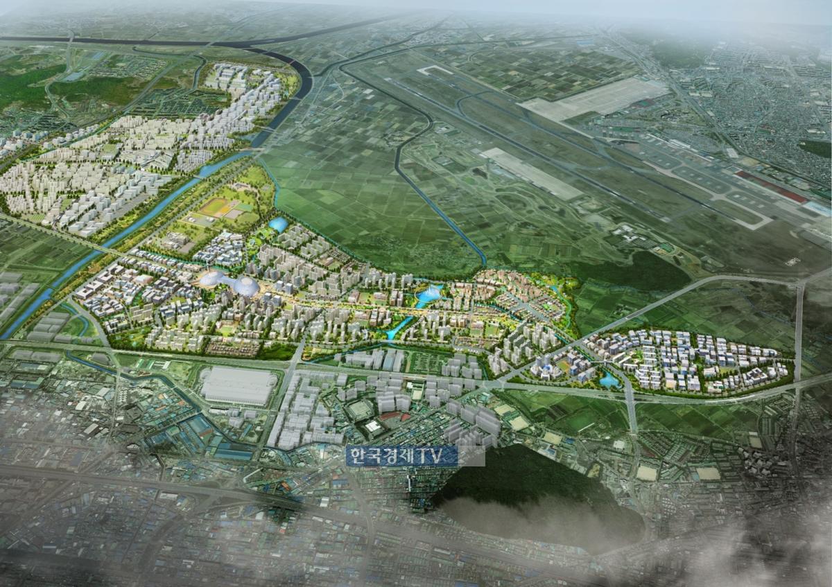 3기 신도시로 조성될 부천 대장지구 일대.