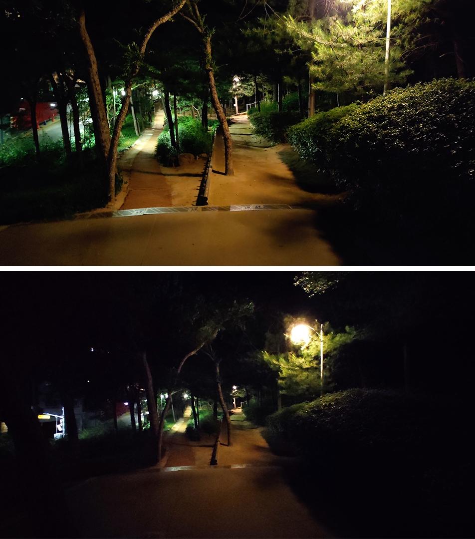 홍미노트9S 1,200만(위) 초광각(아래)