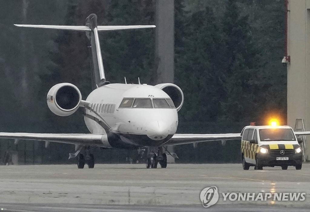 알렉세이 나발니의 의료용 여객기 (사진=연합뉴스)