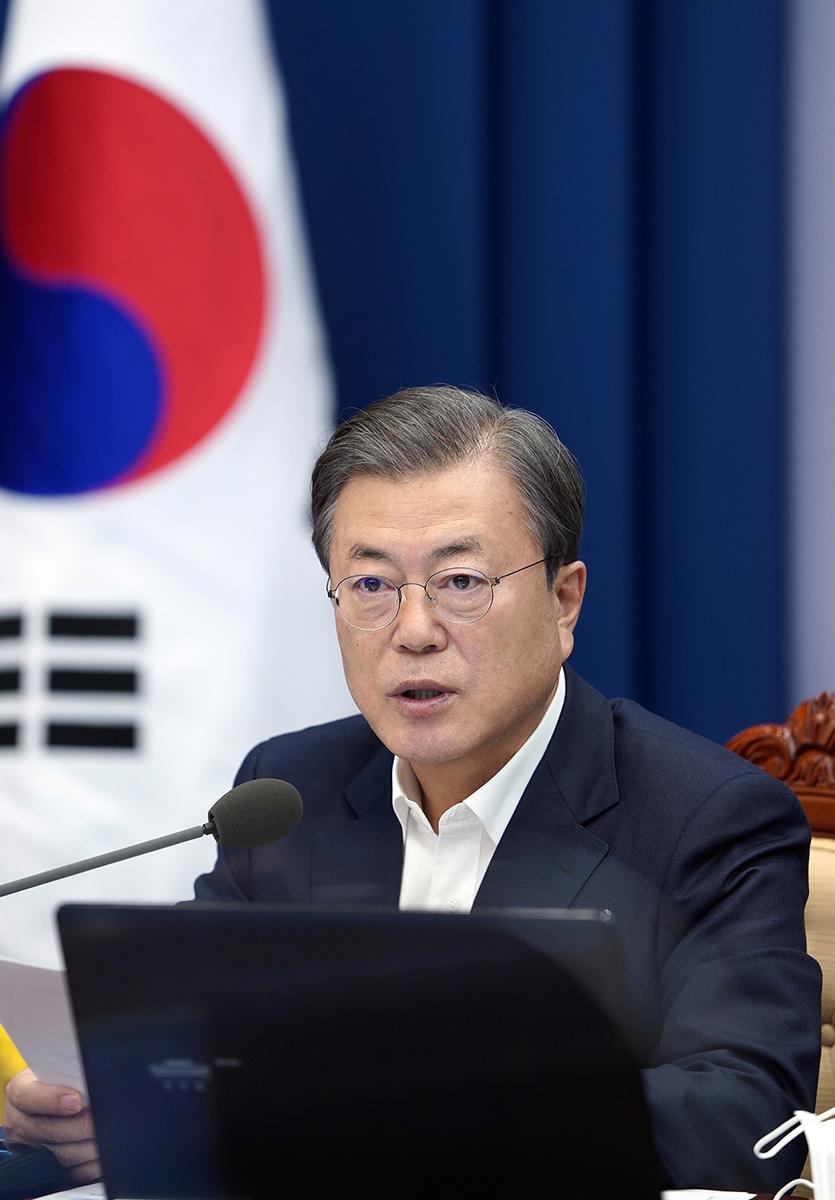 문 대통령이 30일 청와대에서 수석보좌관회의를 주재했다. (청와대 제공)