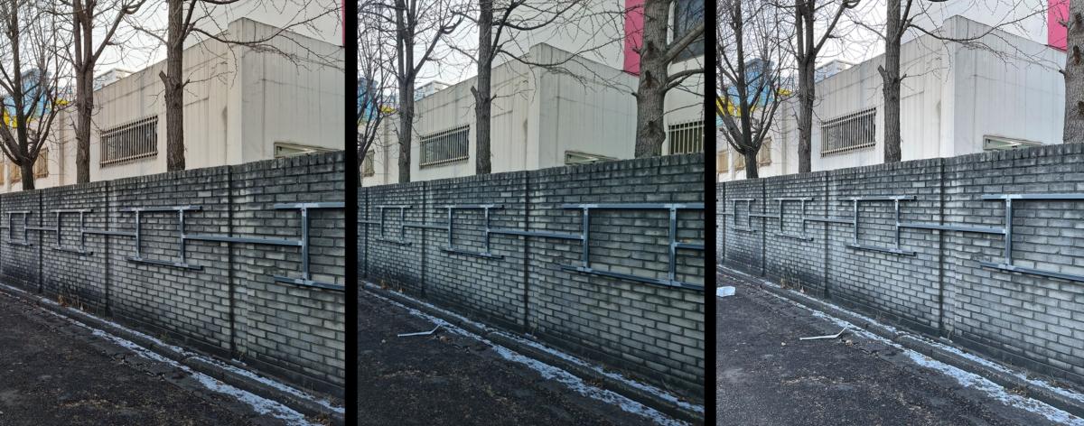 왼쪽부터 갤럭시S21 플러스(6400만), 울트라(1억800만), 아이폰12 프로 맥스 촬영 비교