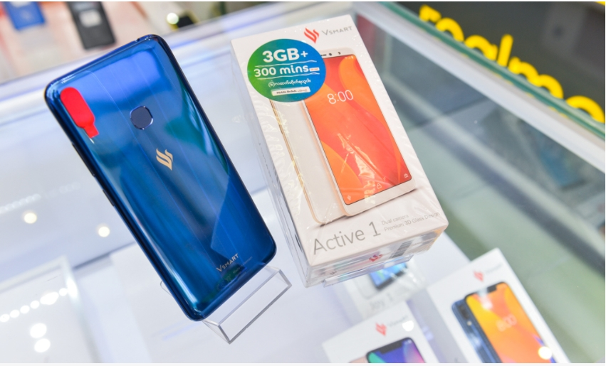 빈그룹의 휴대폰 자회사 빈스마트가 생산한 스마트폰 모습