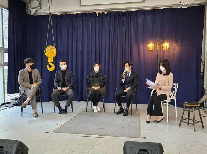 김승환 교수, 장희복 단장, 김진아 대표, 서평강 변리사, 문예진 대표