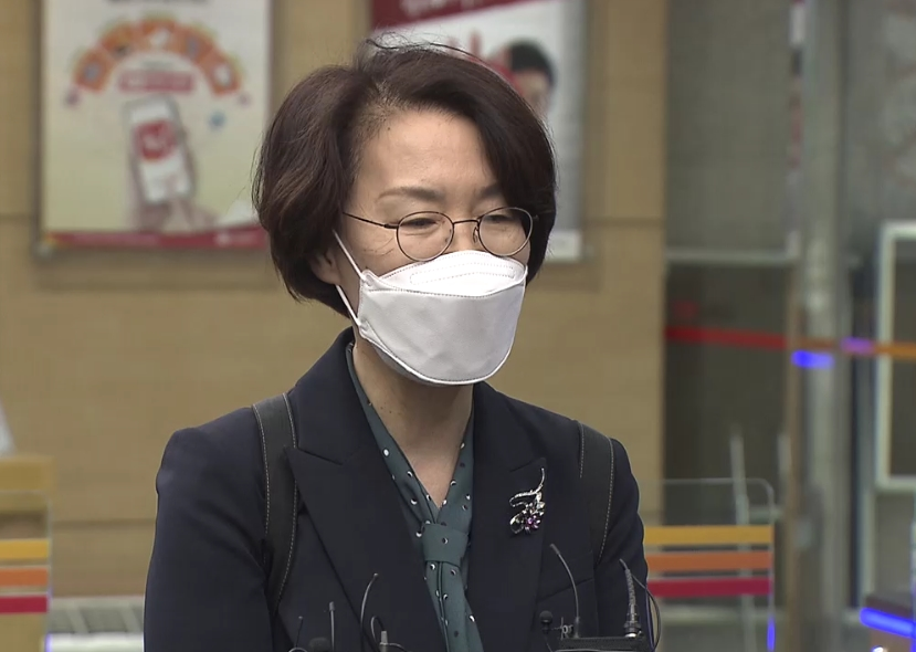 광화문 우체국에 첫 출근하는 임혜숙 과기정통부 장관 후보자