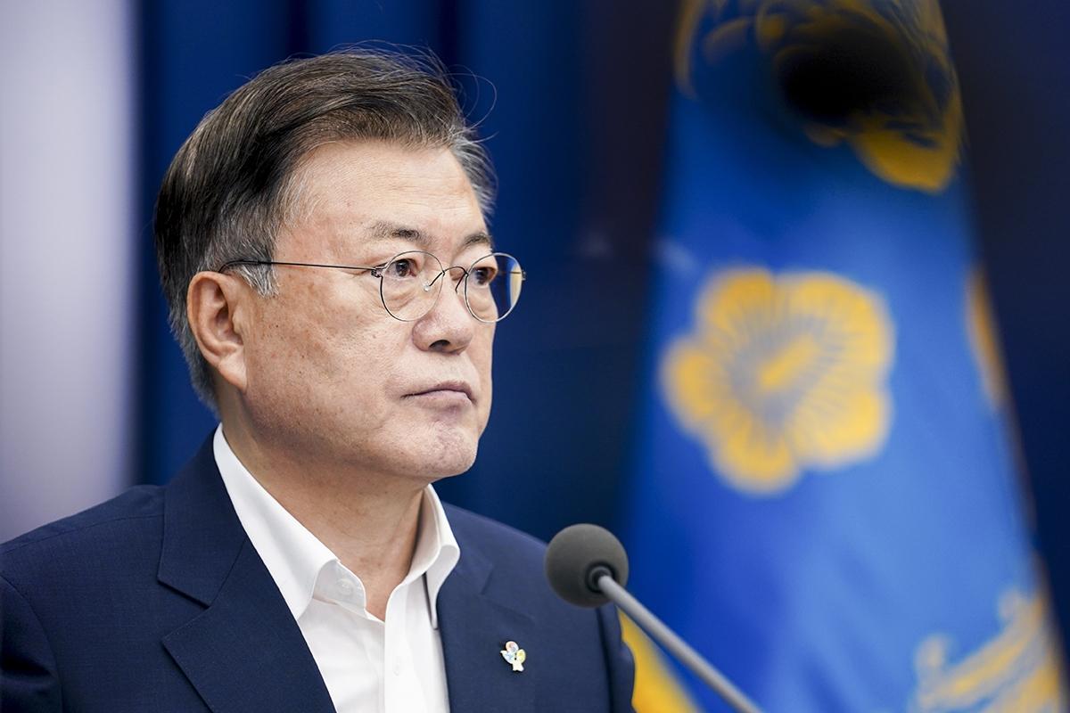 문 대통령은 7일 청와대에서 코로나19 대응 특별방역점검회의를 주재했다. (청와대 제공)